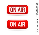 on air vector sign. live stream ...   Shutterstock .eps vector #1100702039
