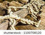 knots on a timber raft   Shutterstock . vector #1100708120