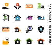 solid vector ixon set   house... | Shutterstock .eps vector #1100714666