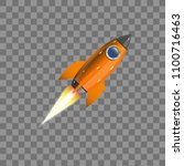 rocket  icon. vector...   Shutterstock .eps vector #1100716463