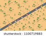 an isometric natural landscape... | Shutterstock .eps vector #1100719883