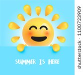 funny sun smiley with the title ... | Shutterstock .eps vector #1100723909