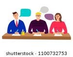 judging committee. judges table ... | Shutterstock .eps vector #1100732753
