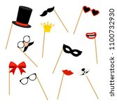 photo booth props. photobooth... | Shutterstock .eps vector #1100732930