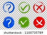 question mark  symbolic x and... | Shutterstock .eps vector #1100735789