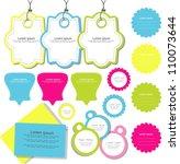 cute scrapbook elements set | Shutterstock .eps vector #110073644