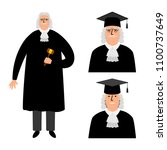 richter. cartoon judge vector... | Shutterstock .eps vector #1100737649