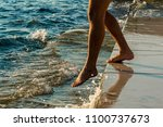 a tourist goes to the adriatic... | Shutterstock . vector #1100737673