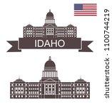 state of idaho. idaho state... | Shutterstock .eps vector #1100744219