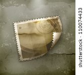 Blank Postage Stamp  Old Style...