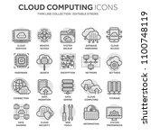 cloud computing. internet... | Shutterstock .eps vector #1100748119