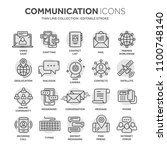 communication. social media.... | Shutterstock .eps vector #1100748140