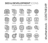 seo and app development. search ... | Shutterstock .eps vector #1100748149