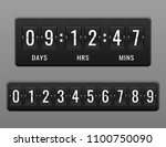 mechanical countdown timer and... | Shutterstock .eps vector #1100750090