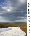 Small photo of Snow in paltry landscape