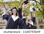 finishing university. smiling... | Shutterstock . vector #1100755649
