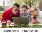 educational video. three... | Shutterstock . vector #1100755709