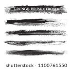 grunge brush strokes.vector... | Shutterstock .eps vector #1100761550