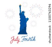 july fourth. usa independence... | Shutterstock .eps vector #1100763296