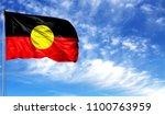 flag of australian aboriginal... | Shutterstock . vector #1100763959