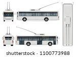 trolleybus vector mockup on... | Shutterstock .eps vector #1100773988