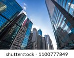 up view of modern office... | Shutterstock . vector #1100777849