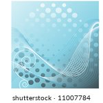 netting over circles with coil... | Shutterstock .eps vector #11007784