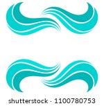 blue water wave border... | Shutterstock .eps vector #1100780753