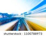 speed motion in urban highway...   Shutterstock . vector #1100788973