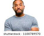 african american man with beard ... | Shutterstock . vector #1100789570
