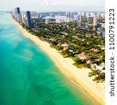aerial view of miami beach ... | Shutterstock . vector #1100791223