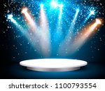 showroom background with a red... | Shutterstock .eps vector #1100793554