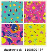 set of colorful funky summer... | Shutterstock .eps vector #1100801459