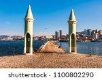 small gothic architecture cone... | Shutterstock . vector #1100802290