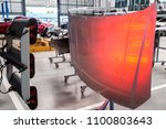 car hood after painting with... | Shutterstock . vector #1100803643