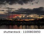 evening in stockholm stock... | Shutterstock . vector #1100803850