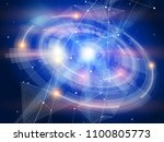 futuristic holographic display... | Shutterstock .eps vector #1100805773