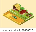 isometric farming concept with... | Shutterstock .eps vector #1100808398