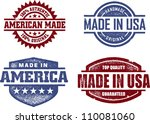 made in usa america original... | Shutterstock .eps vector #110081060