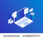 web development concept ... | Shutterstock .eps vector #1100825573