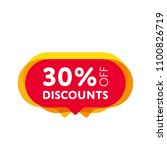 special offer sale red tag... | Shutterstock .eps vector #1100826719
