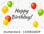 happy birthday  lettering text...   Shutterstock .eps vector #1100826839