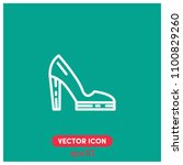 high heels vector icon...