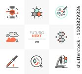 modern flat icons set of bio... | Shutterstock .eps vector #1100829326