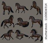 3d computer graphics of nine...   Shutterstock . vector #1100836514