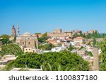 view of rooftops and grand... | Shutterstock . vector #1100837180