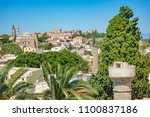 view of rooftops and grand... | Shutterstock . vector #1100837186
