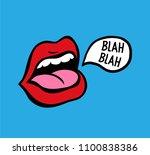 pop art vector speaking red... | Shutterstock .eps vector #1100838386