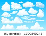 vector cloudy sky  heaven space.... | Shutterstock .eps vector #1100840243
