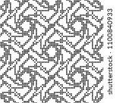 seamless pattern. monochrome.... | Shutterstock .eps vector #1100840933